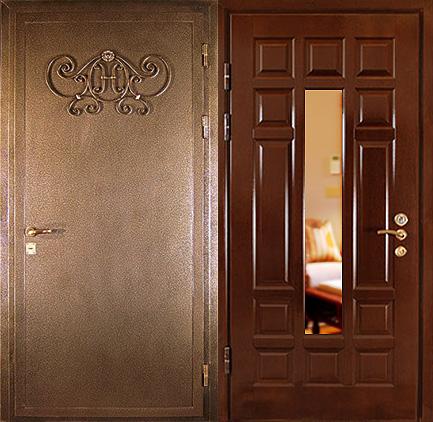 входные двери мдф ковка