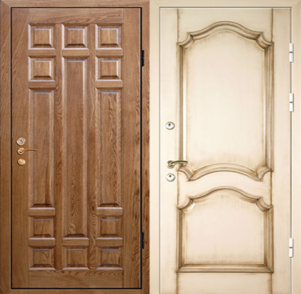 двери металлические входные массив дуба