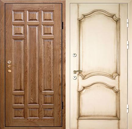 металлические двери массив дуба шпон