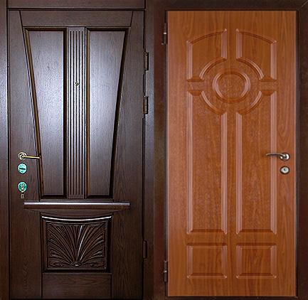 двери на заказ входные мдф дуб
