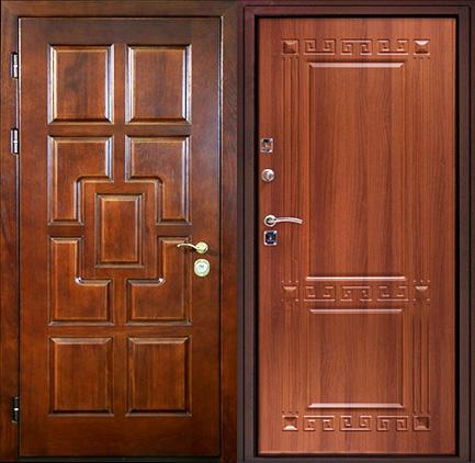стальная дверь филенчатый мдф