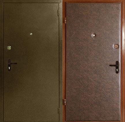 тамбурная входная металлическая дверь порошок винилискожа