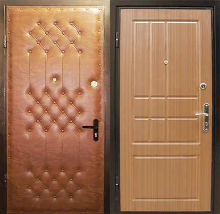 двери металлические входные 2 мм винилискожа