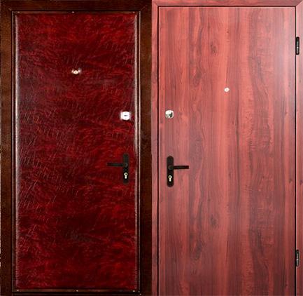 производство входные двери винилкожа