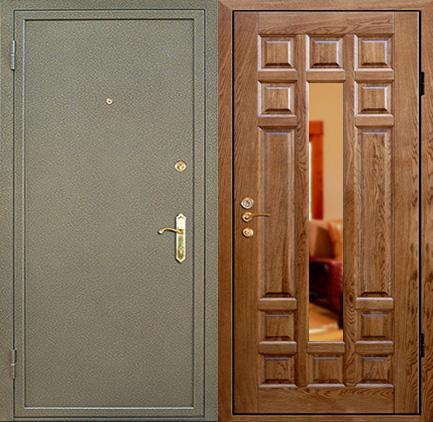 двери входные металлические бронированные с зеркалом внутренней стороны