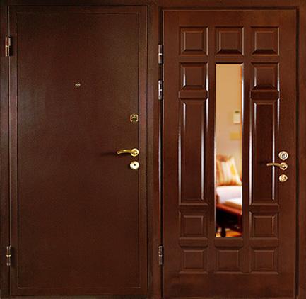 металлическая дверь с зеркалом 16 000 рублей